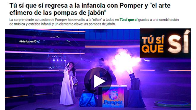 """Los Pomper en el programa """"Tu si que si"""" de La Sexta"""
