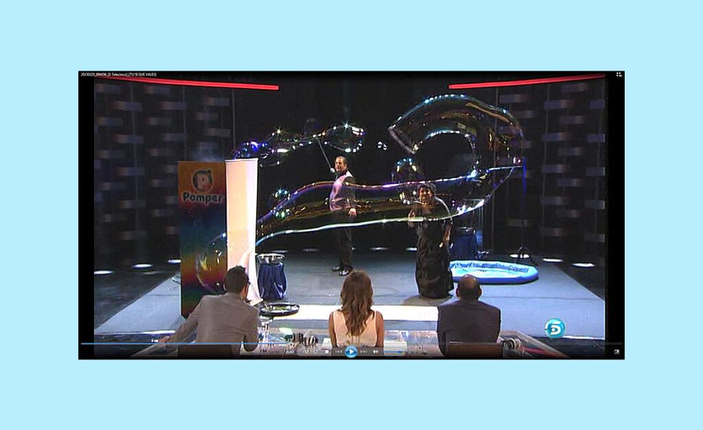 Pomper en Televisión nacional